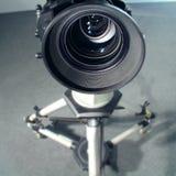 宽角度透镜视频视图 库存图片
