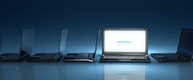 宽银幕新的网站的介绍- 免版税库存照片