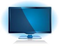宽银幕显示的电视 免版税库存照片