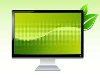 宽银幕生态lcd的监控程序 库存图片