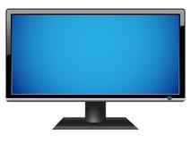 宽银幕hdtv lcd的监控程序 免版税库存照片