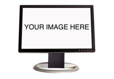 宽银幕lcd的监控程序 库存图片