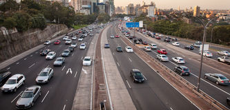宽高速公路 免版税库存图片