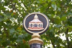 宾厄姆集市广场标志标记 库存图片