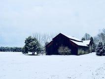 宾夕法尼亚农场在冬天 免版税库存图片