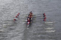 宾夕法尼亚大学在查尔斯赛船会人的主要Eights头赛跑  库存照片