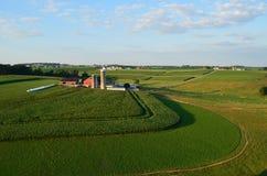 宾夕法尼亚的农场和领域 免版税库存图片