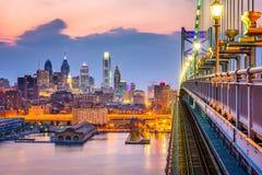 宾夕法尼亚费城地平线 库存照片