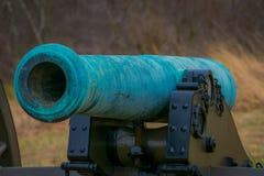 宾夕法尼亚,美国, 2018年4月, 18日:关闭拿破仑,位于公墓公园的12 lb绿松石大炮  免版税库存照片