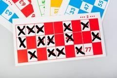 宾果游戏拟订多种颜色 免版税库存照片