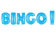 宾果游戏,蓝色颜色 免版税图库摄影