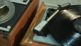 巴宾记录器和转盘 影视素材