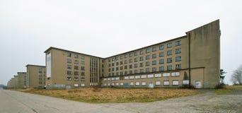 宾馆kdf prora手段海边 免版税库存图片
