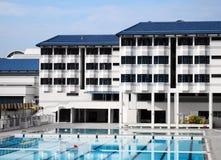 宿舍池学校游泳 免版税图库摄影