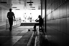 寂寞在大城市 免版税库存照片