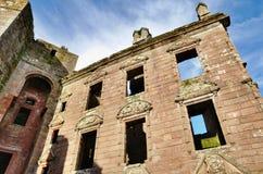 寄宿在Caerlaverock城堡的Nithsdale 免版税图库摄影