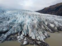 寄生虫夺取的航拍 Vatnajokull国家公园,冰岛 库存图片