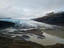 寄生虫夺取的航拍 Vatnajokull国家公园,冰岛 免版税库存照片