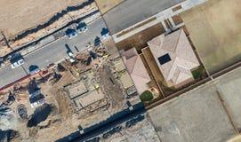 寄生虫家庭建筑Sitei的鸟瞰图横断面 免版税库存图片