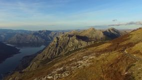 寄生虫录影-巴尔干山在国家公园Lovchen和科托尔咆哮 影视素材
