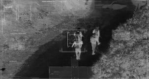 寄生虫有热量夜视观点的有放大的照相机的恐怖分子