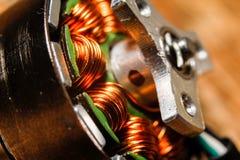 寄生虫的小无刷子的电动机 图库摄影