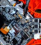 寄生虫的电路板 免版税库存照片