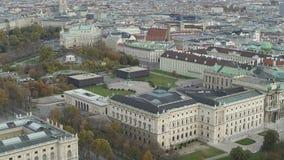 寄生虫空中维也纳国家歌剧院和都市风景 股票视频