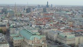 寄生虫空中维也纳国家歌剧院和都市风景 影视素材
