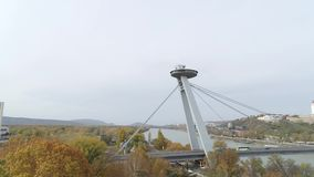 寄生虫空中4K布拉索夫多瑙河现代桥梁 影视素材