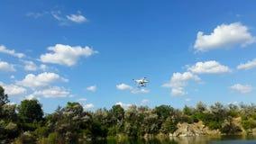 寄生虫飞行在湖 影视素材