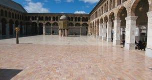 寄生虫飞行城市的,大马士革一个清真寺 影视素材