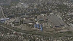 寄生虫 在视图之上 在城市中间是一家老工厂 影视素材