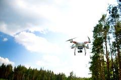 寄生虫quadrocopter Phantom3 库存图片