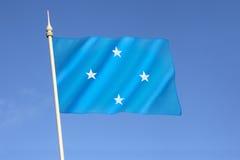 密克罗尼西亚联邦的旗子 免版税库存图片
