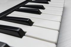 密地钢琴钥匙 免版税库存图片