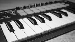 密地键盘键特写镜头 免版税库存图片