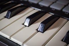 密地键盘键特写镜头 免版税图库摄影