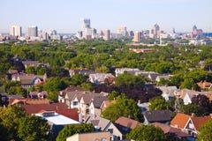 密尔沃基-城市全景 免版税库存图片