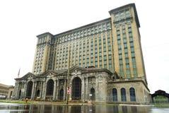 密执安中央驻地在底特律,美国 免版税库存照片