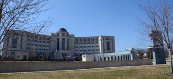 密执安越南纪念品和审判厅 库存图片
