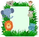 密林动物框架 向量例证