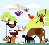 密林动物 免版税库存照片