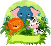 密林动物 向量例证