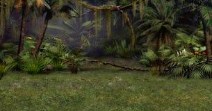 密林场面 库存图片