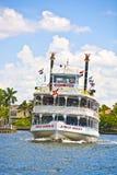 密林女王/王后河船在劳德代尔堡,佛罗里达 免版税库存图片