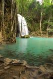 密林热带瀑布 免版税库存照片