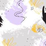 密林热带艺术 植物的花帆布样式 最佳的当代墙纸 附庸风雅行家装饰 重复花卉海岛 向量例证