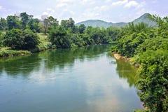 密林美好的风景的河 免版税图库摄影