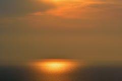 密歇根湖日落 库存照片